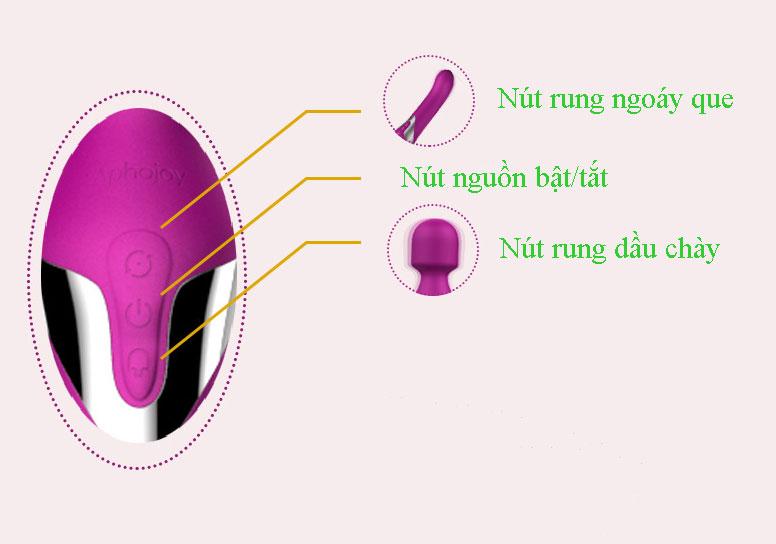 Các nút điều khiển chày rung kích thích điểm G Aphojoy