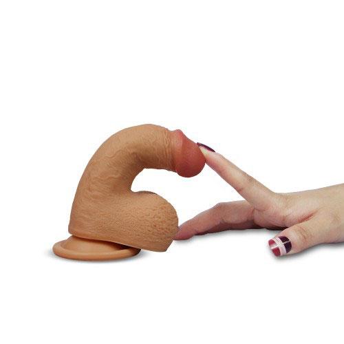 Dương vật giả có đế hít tường Lovetoy Nature Cock có thể bẻ cong