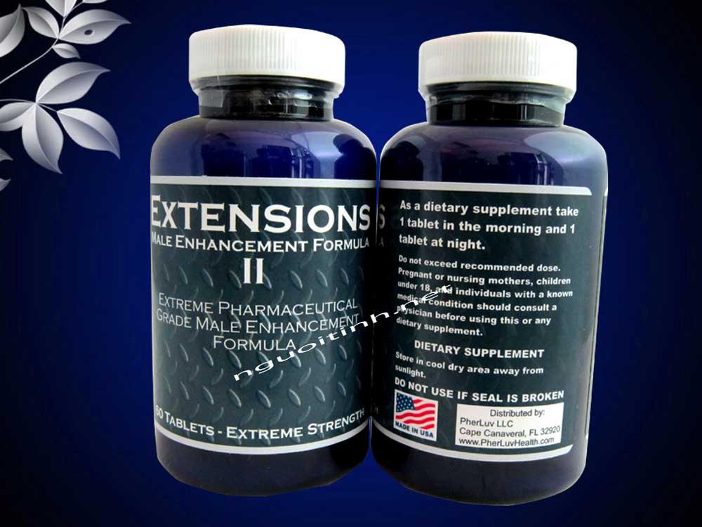 Thuốc tăng kích cỡ cậu nhỏ Extensions II cấp tốc